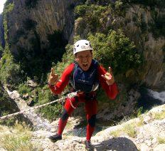 Advanced canyoning